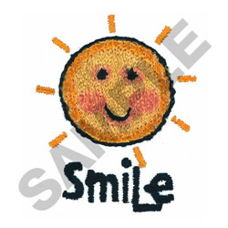 SMILE embroidery design
