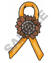 SUNFLOWER WITH RIBBON embroidery design