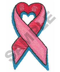 HEART SHAPED RIBBON embroidery design