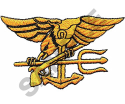 U S NAVY SEAL embroidery design