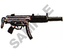 MACHINE GUN embroidery design