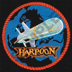 HARPOON (SEWN ON BLACK) embroidery design