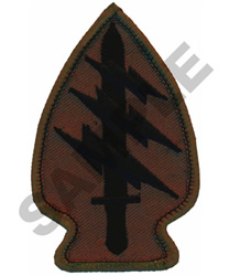 SPECIAL FORCES ARROWHEAD embroidery design