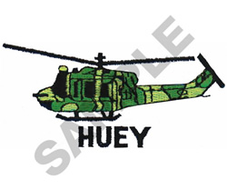 HUEY HELICOPTER embroidery design