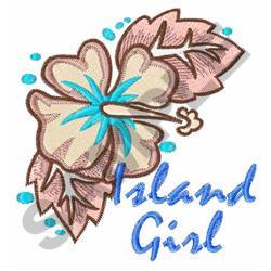 ISLAND GIRL embroidery design