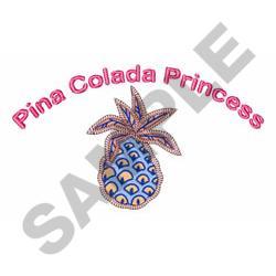 PINA COLADA PRINCESS embroidery design