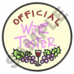 OFFICIAL WINE TASTER embroidery design