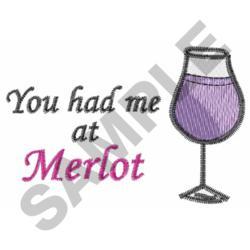 MERLOT WINE embroidery design