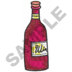 WINE BOTTLE embroidery design