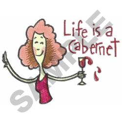 WOMAN DRINKING WINE embroidery design