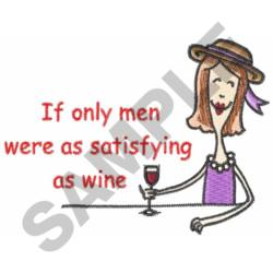 LADY DRINKING WINE embroidery design