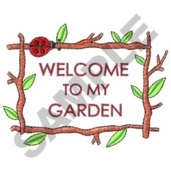 welcome to my garden embroidery designs machine