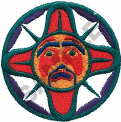 NORTHWEST SUN MASK embroidery design