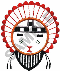 KACHINA FACE embroidery design