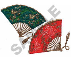FANS embroidery design