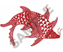 ORIENTAL FISH embroidery design