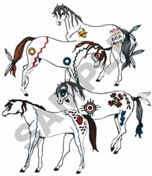 INDIAN HORSES embroidery design
