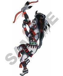 BUFFALO POW WOW DANCER embroidery design