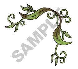 LEAF VINE CORNER BORDER embroidery design