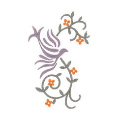VINE AND BIRD embroidery design