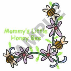 MOMMYS LITTLE HONEY BEE embroidery design