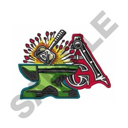 Freemasons Symbol embroidery design