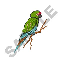 Military Macaw embroidery design