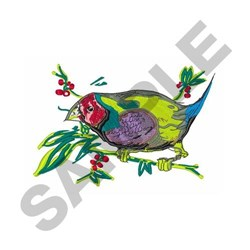 Gouldian Finch embroidery design