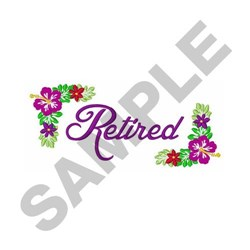 Retired embroidery design