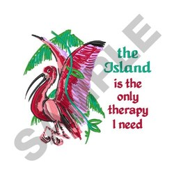 Island Therapy embroidery design
