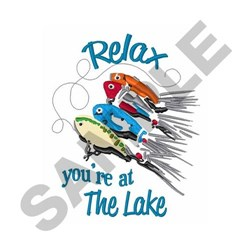 Relax At Lake embroidery design