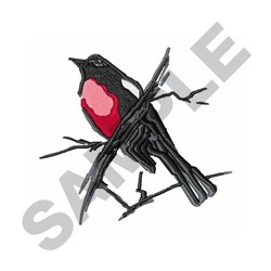 Painted Redstart embroidery design