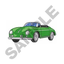 German Classic Car embroidery design