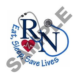 Save Lives embroidery design