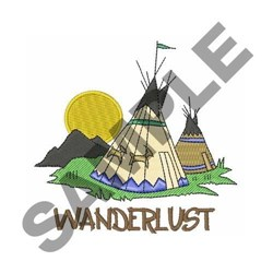 Wanderlust embroidery design