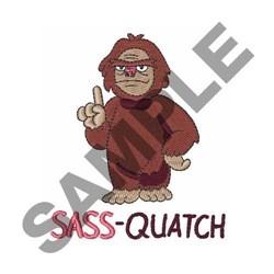 Sass-quatch embroidery design