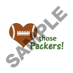 Love Those Packers embroidery design
