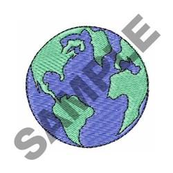 Earth Globe embroidery design