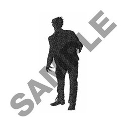 Zombie Silhouette embroidery design