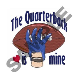 The Quarterback embroidery design