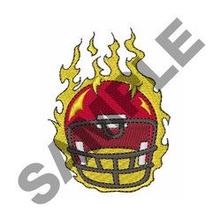 Flaming Helmet embroidery design