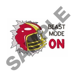 Beast Mode On embroidery design
