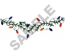 CHRISTMAS LIGHTS BORDER embroidery design