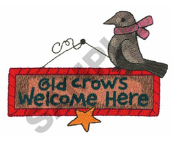 CROW embroidery design