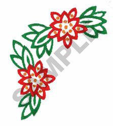 POINSETTIA CORNER EMBLEM embroidery design