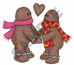 GINGERBREAD COUPLE embroidery design