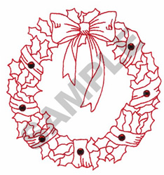 WREATH CRYSTALS embroidery design