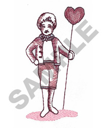 BOY WITH HEART embroidery design