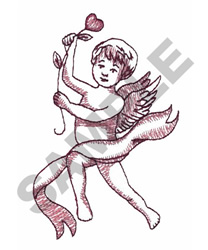 ANGEL WITH HEART embroidery design