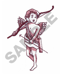 ANGEL WITH BOW embroidery design